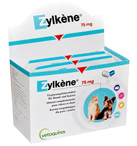 Zylkene - Ergänzungsfuttermittel für Hunde und Katzen bis 10kg - 30 Kapseln
