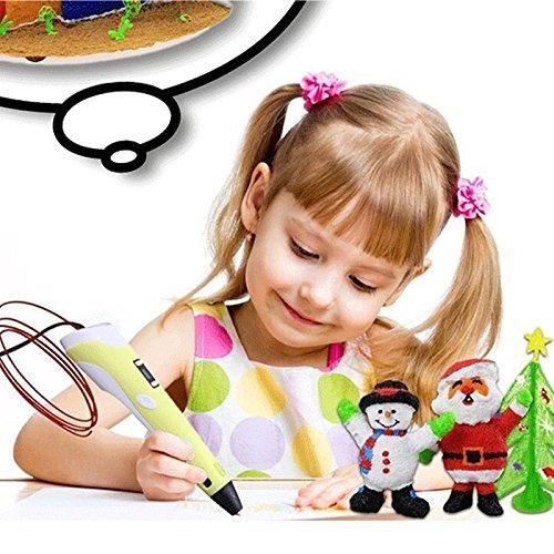 LXX Intelligent 3D Pen Fun. Speciale App beschikbaar het beste cadeau voor kinderen geel