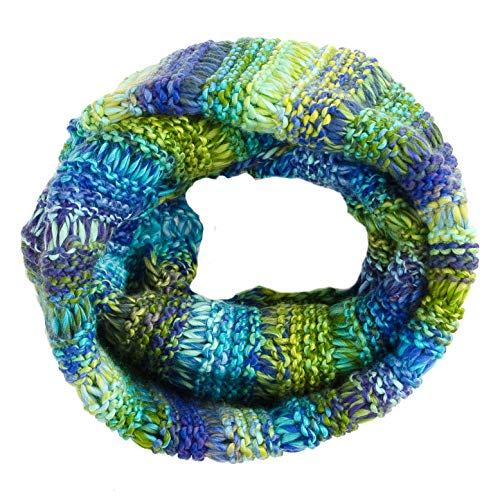Tickled Pink Women's Ombre Knit Infinity Scarf, Blue & Green