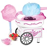 Nostalgia PCM325WP Vintage Hard and Sugar Free Countertop Cotton Candy Maker, Includes 2 Reusable...