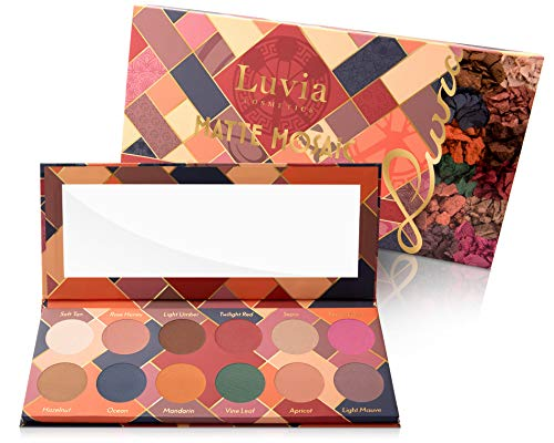 Paleta de sombras de ojos mate Luvia con mosaico, incluye 12 colores mate únicos, caja de regalo limitada, paleta de sombras vegana