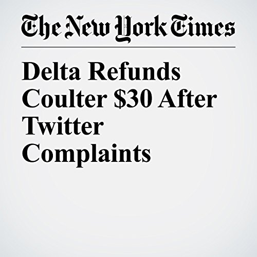 Delta Refunds Coulter $30 After Twitter Complaints copertina