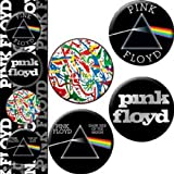 C&D Visionary Licenses Products Pink Floyd Dark Side of The Wall Assorted Artworks 1.25' Button Set, 4-Piece