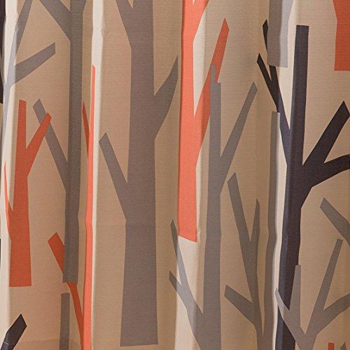 ナイスデイ IN-FA-LA 北欧デザイン 遮光カーテン枚組(遮熱 保温 形状記憶) 100×00cm オレンジ 4873611