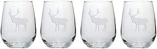 Elk 17 oz Stemless Wine Glasses - Set of 4