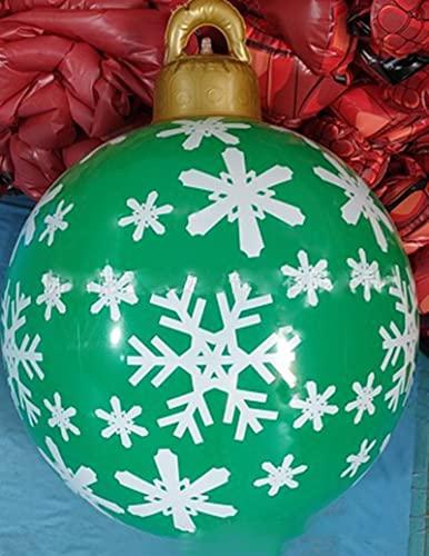 Palla decorata gonfiabile di Natale all'aperto, palla decorata gonfiabile gonfiabile di Natale all'aperto, decorazioni dell'albero di Natale della palla gonfiabile gigante di Natale con la pompa
