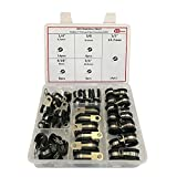 Cable Clamp,48pcs Rubber Cushion Insulated Clamp.Stainless Steel Metal Clamp (Assortment Kit 3)