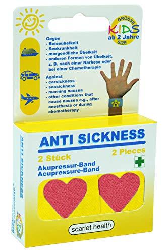 scarlet health | Akupressurband »Sea«, 1 Paar Akupressur-Armbänder gegen Übelkeit & Seekrankheit, für Erwachsene & Kinder, Anti-Übelkeitsband fürs Handgelenk, 2 elastische Bänder (Herz)