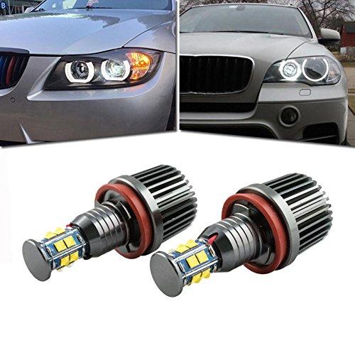 Faros Angel Eyes para coche, Bombillas LED H8 Ojo de ángel para E82/E87