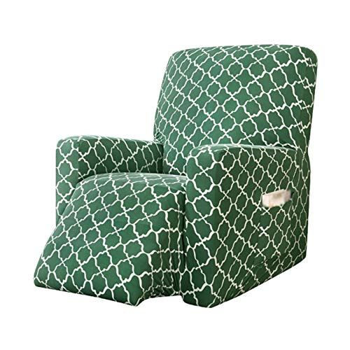 HALOUK 1 Piece Recliner Stretch Sofa Cover,Soft Print Thick Washable Non Slip Sofa Slipcover Furniture Protector for Pet Dog Cat-C