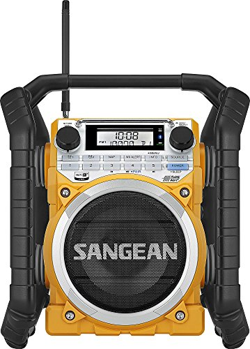 Sangean U4 AM/FM-RBDS/Weather Alert/Bluetooth/Aux-in Ultra Rugged Rechargeable Digital Tuning Radio Yellow