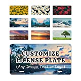 Personalized Custom License Plate for Cars and Bikes,Add Photo, Text or Logo,Nature Novelty License Plates Metal,Vehicle Plate for Car, Truck, Rv, Tag License Plate Cover Frame 2 Holes or 4 Holes