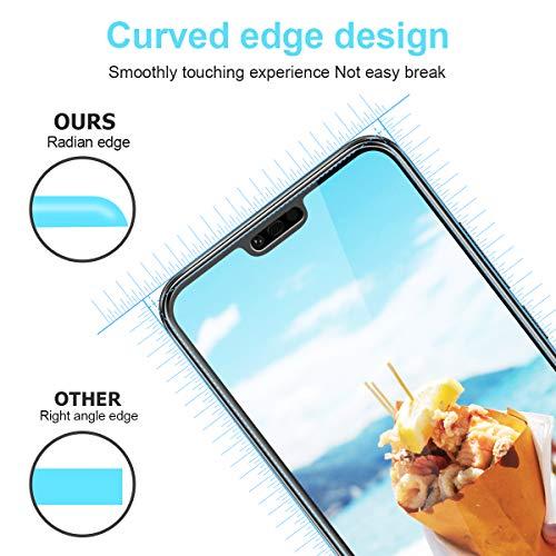 CRXOOX [3 Stück] Panzerglas Schutzfolie für Huawei Honor 10, [Anti-Kratzer/Anti-Öl] [Einfache Installation] [Blasenfrei] [3D Touch Kompatibel/9H Härte] - für Huawei Honor 10 - Transparent - 4