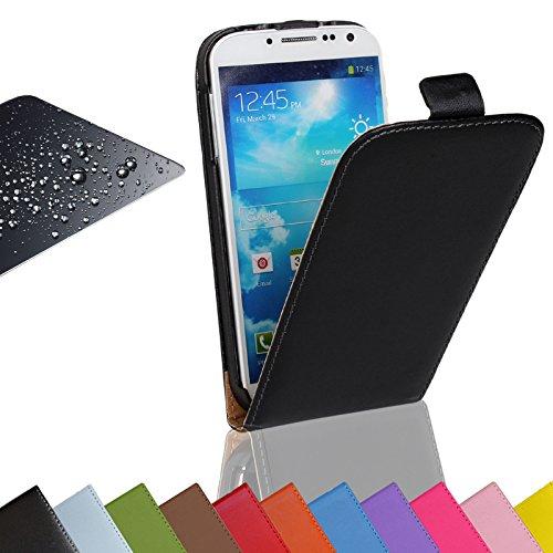 Eximmobile Flip Case Handytasche + Panzerfolie für Nokia Lumia 630 Schutzhülle in Schwarz Handyhülle aus Kunstleder Tasche Cover Etui Hülle mit Echt Glasfolie Schutzfolie Displayschutzfolie
