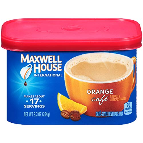 Maxwell House International Orange Cafe Instant Coffee 93 oz Canisters Pack of 4