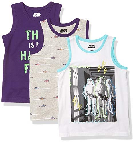 Spotted Zebra Boys' Kids Disney Marvel Sleeveless Tank Top T-Shirts, 3-Pack Star Wars Troopers