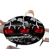 Morbuy Mantel Elastico Ajustable Redondo, 3D Rosa Flor Imprimir Manteles Impermeables Antimanchas Mantel para Decoración Cocina Comedor Fiesta Jardín (Gotitas de Agua,Diametro 200cm)