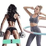 Hula Hoop Fitness Desmontable - JanTeelGO Professional Weighted Aro de Gimnasia para Adultos y niños,Hula Hoop para pérdida con Bandas de Resistencia,Adecuado para Fitness,Gimnasia