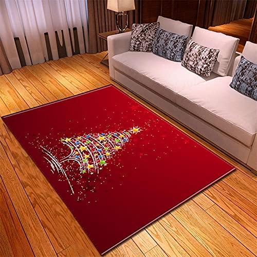 Alfombras Salon Modernas 160X230cm Estrellas De Color Rojo Alfombra Impresa En 3D Alfombras Lavable Habitacion Alfombras Grandes De Bebe Shaggy Alfombra Pelo Corto De Cocina Baño Antideslizante