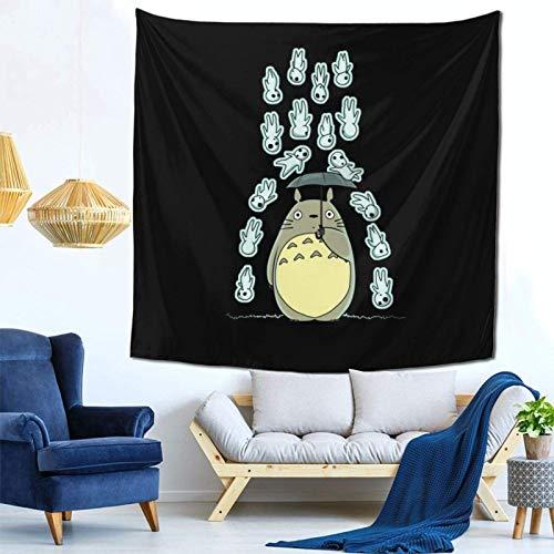 LuoYangShiLaoChengQuTianYuGangCaiXiaoShouBu Kodama Rain of Spirits Studio Ghibli Wall Hanging Tapestry for Living Room and Bedroom Spreads Good Vibes 59×59 Inches