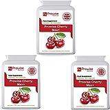 Cherry Max (paquete de 3) 750 mg 90 cápsulas - Cerezas Montmorency liofilizadas de alta resistencia - Fabricadas en el Reino Unido | Estándares GMP de Prowise Healthcare