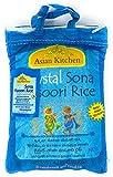 Asian Kitchen Crystal Sona Masoori Aged Rice 4lbs Pound Bag (1.81kg) Short Grain Rice ~ All Natural   Gluten Free   Vegan   Indian Origin   Export Quality