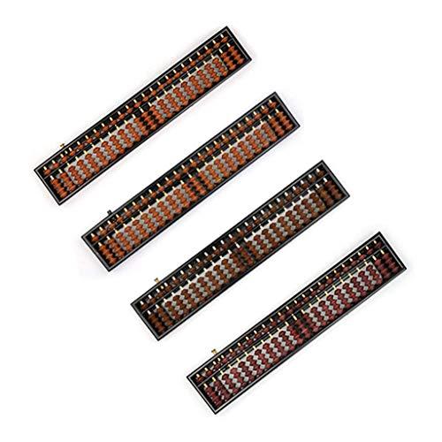 U-K Portátil Chino 23 dígitos Columna Abacus aritmética Soroban calculadora contando matemática Herramienta de Aprendizaje para niños portátil y útilAgradable y Profesional