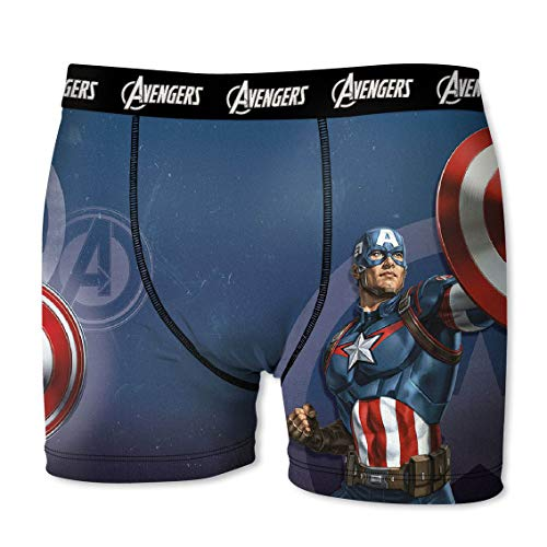 Marvel Avengers Herren Boxershort, 7X TOP Design\'s zur Auswahl Iron Man, Hulk, Thor, Captain America (Capt. America, L/6/50)