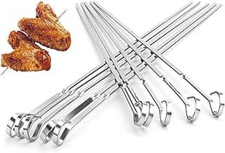 """IMEEA Kabob Skewers Flat Metal BBQ Barbecue Skewer 17.7"""" Stainless Steel Shish Kebob Sticks Wide Reusable Skewers Set for ..."""