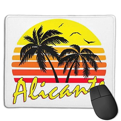 Alicante Vintage Sun Customized Designs rutschfeste Gaming-Mauspads auf Gummibasis für, 22 cm & mal 18 cm, PC, Computer. Ideal zum Arbeiten oder Spielen