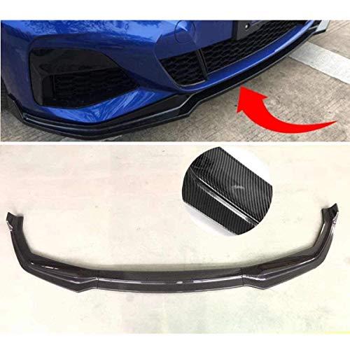 YUMTOL 1Set Abs Carbon Faser Stil Frontschürze Lip Seite Röcke Splitter Spoiler Für BMW 3 Serie G20 2019 2020 Außen Teile
