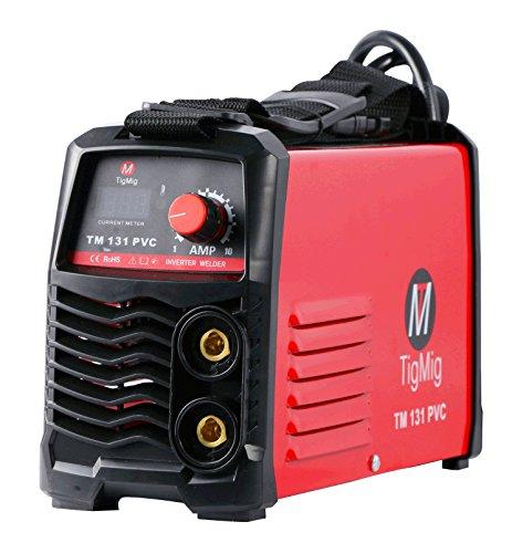 TM 131 PVC - Soldadora Inverter MMA, electrodo de 130 A, maletín de PVC y accesorios incluidos