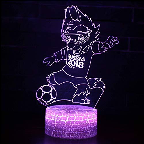 figura luz nocturna 3D, lámpara Illusion, 7 luces decorativas que cambian de color, juguetes para niños, regalo de Navidad con control remoto