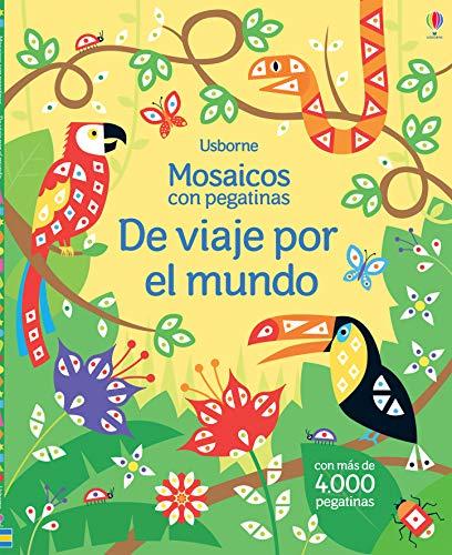 De Viaje Por El Mundo. Mosaicos Con Pegatinas