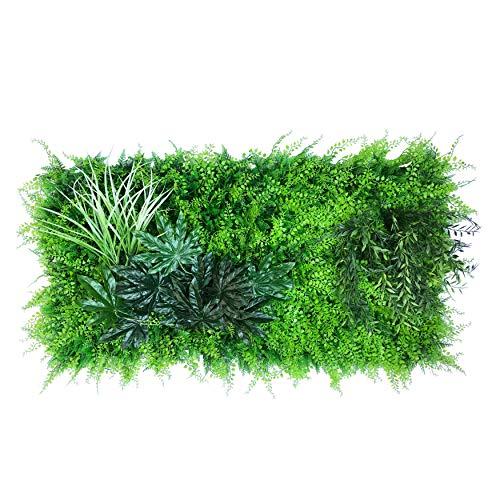 urbanjungle Pflanzenwand (Aussehen und Maße individ. anpassbar) : 0,5m² Matte mit künstlichen Pflanzen – Vertikaler Garten als Wandbegrünung, Sichtschutz am Zaun oder Balkon, Pflanzenbild (B)