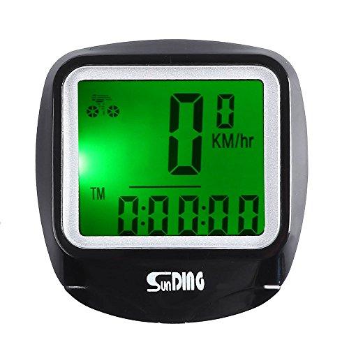 Candora Leisure Wired Bicycle computer Water Resistant Cycling tachimetro contachilometri con retroilluminazione LCD