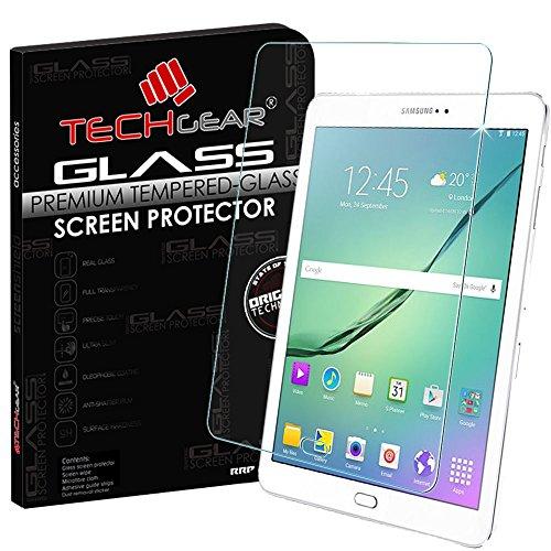 TECHGEAR Vetro Temperato Compatibile con Il Samsung Galaxy ab S2 9.7 Pollici (SM-T810 / SM-T815) - Autentica Pellicola protecttiva in Vetro Temperato Salvaschermo