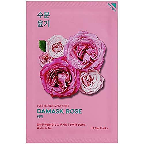 Holika Holika - Mascarilla Anti-Edad 20 ml - Ampoule Mask Sheet - Damask Rose - 1 unidad