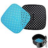 2 fodere riutilizzabili per friggitrice ad aria, 20cm, quadrati antiaderenti, in silicone, accessori...