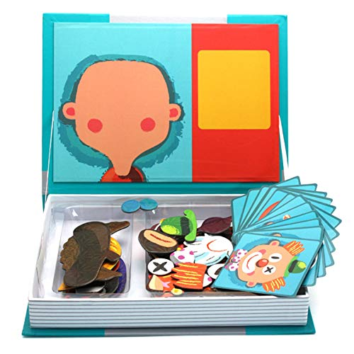 Magnetic Puzzle for Toddlers, Dress Up Game for Imagination Play, Educational Toy for 3 4 5 6 Years Old Boys Girls, Gift for Children