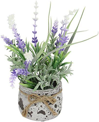 Decoline Kunstpflanze Lavendel im Topf 18cm
