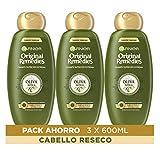 Garnier Original Remedies Oliva Mítica Champú para pelo seco - Pack de 3 x 600 ml