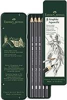 ファーバーカステル 鉛筆 水彩グラファイト鉛筆 5硬度セット デザイン缶入り 117805 [日本正規品] 黒 68g
