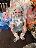 iCradle Muñecas Reborn 20Inch Muñecas para bebé Reborn de Aspecto Real Muñecas de Silicona Suave para bebés Muñecas adorables para niñas gemelas para Mayores de 3 años Reborn Silicona(Boy)