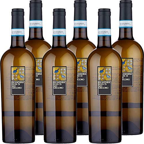Falanghina Feudi di San Gregorio | Confezione da 6 Bottiglie da 75 Cl | Vino Bianco | I Vini della Campania | Idea Regalo