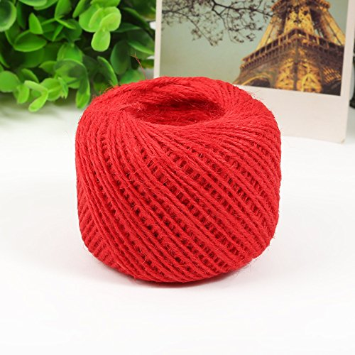 Jute Twine String Cord 2mm (Red)