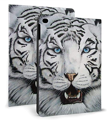 White Tiger Cool PU Leather Smart Case Función Auto Sleep / Wake para iPad Mini 4/5 7,9 'y iPad Air 1/2 9,7' Funda