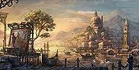 数字によるDiy絵画デジタル絵画油彩デジタルキット絵画キャンバスリネンデジタルアートギフト装飾古代の町の芸術