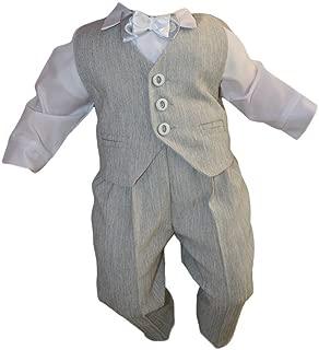 Taufanzug Babyanzug Anzug Jungen Baby Taufe Festbekleidung weiß grau schwarz