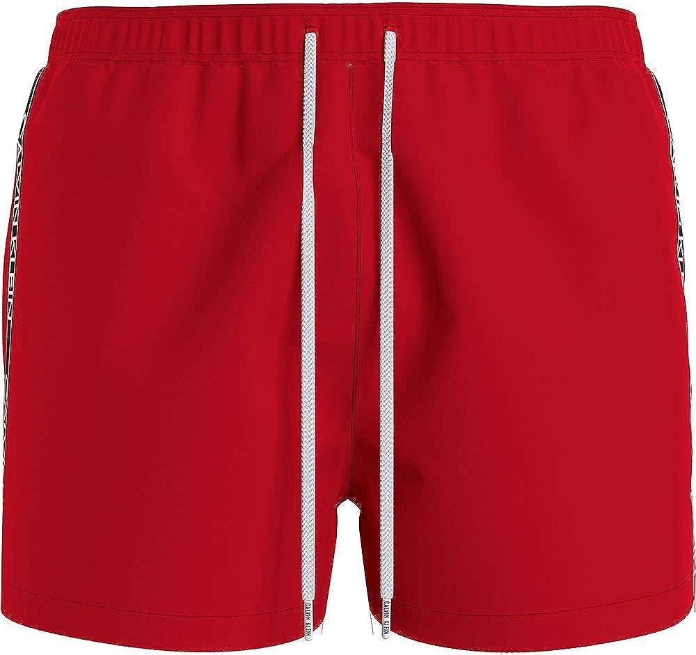 Calvin klein short drawstring, costume a pantaloncino per uomo,100% poliestere KM0KM00557